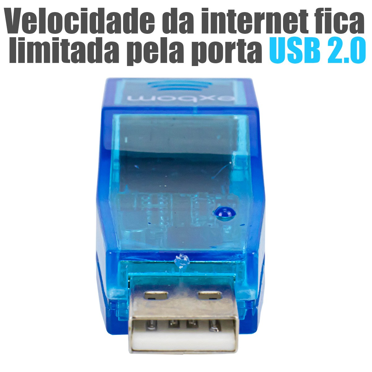 KIT 10 Adaptadores USB 2.0 para Rede Lan RJ45 Exbom UL-100