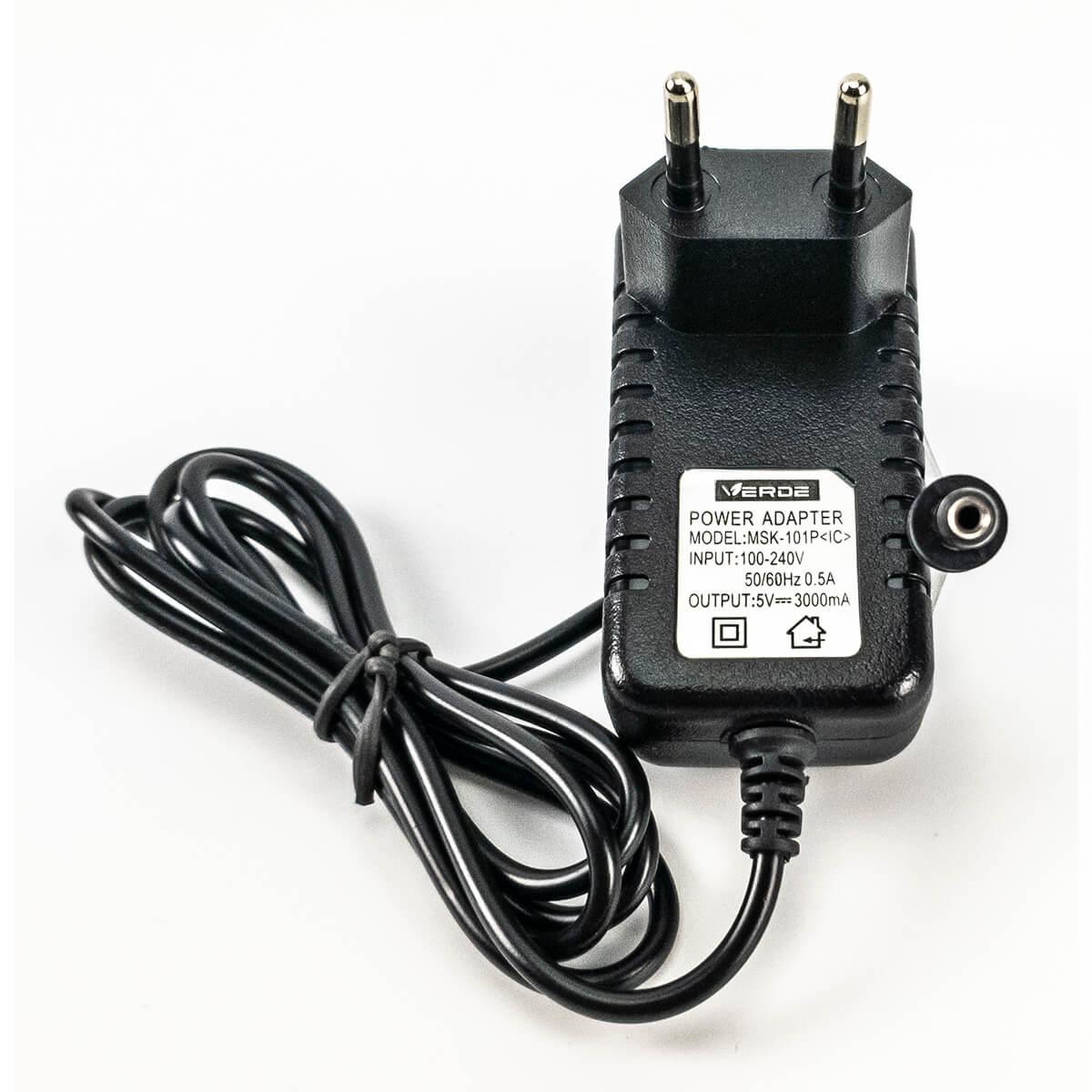 KIT 10 Fontes Chaveada 5v 3a Plug P4 5,5x2,5mm Bivolt Verde MSK-101P