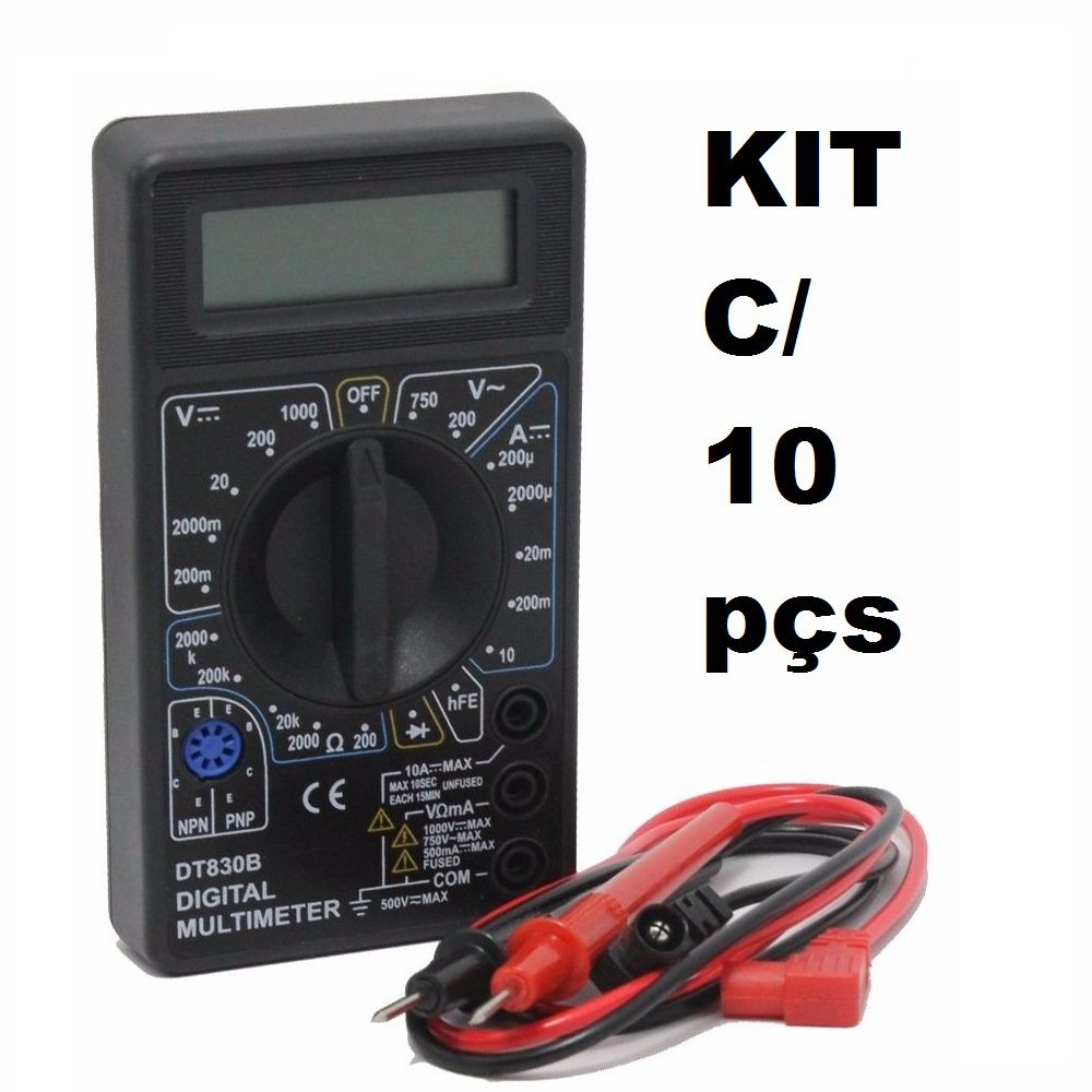 KIT 10 Multímetros Digital DT-830