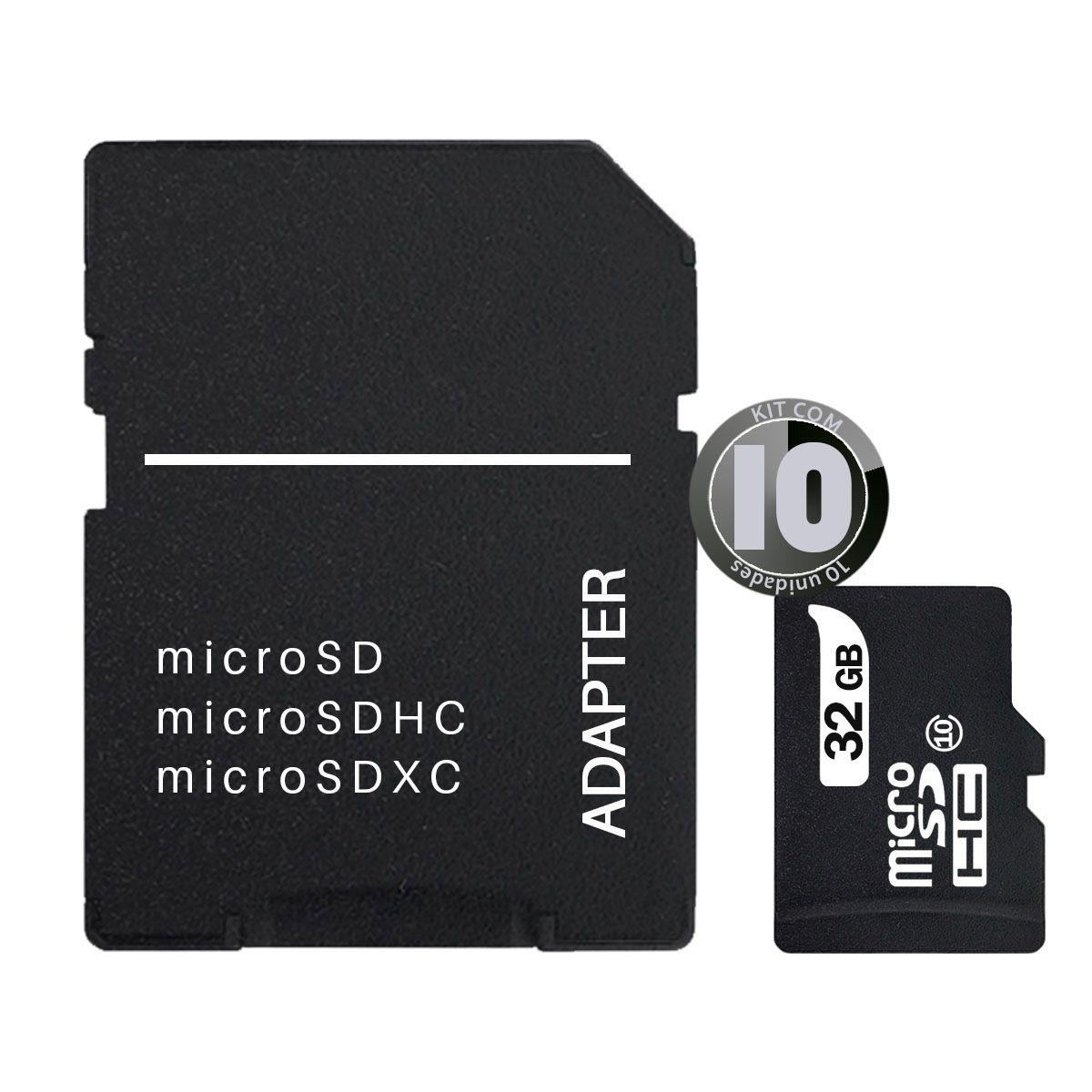 KIT 10x Cartão de Memória 32GB MicroSD Classe 10 Leboss LB-M03