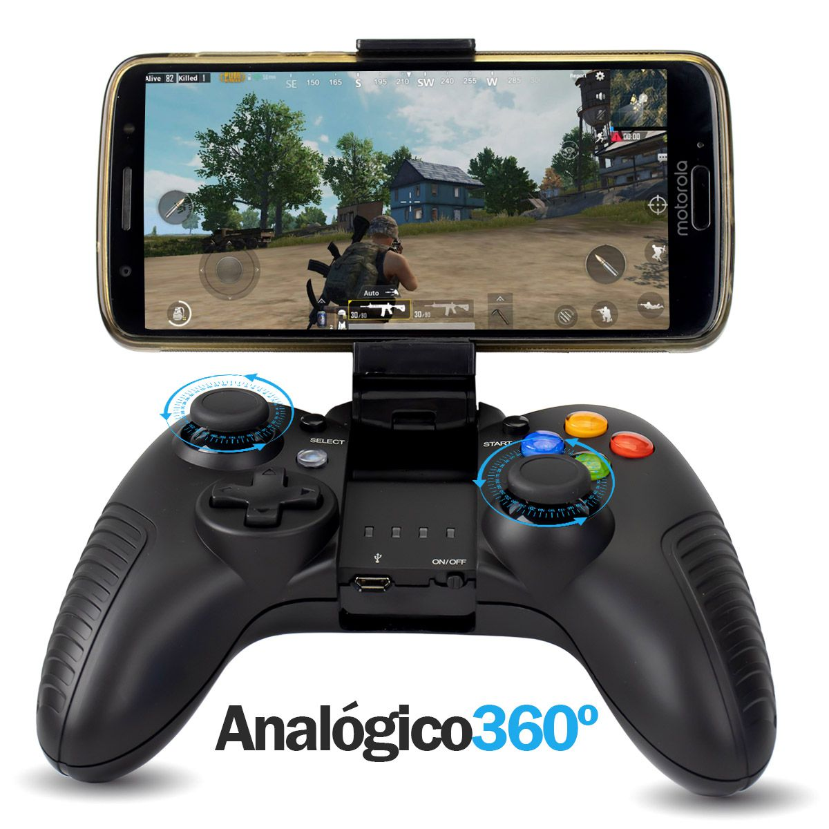 KIT 2x Controle Bluetooth Knup KP-4030 para Celular Tablet PC