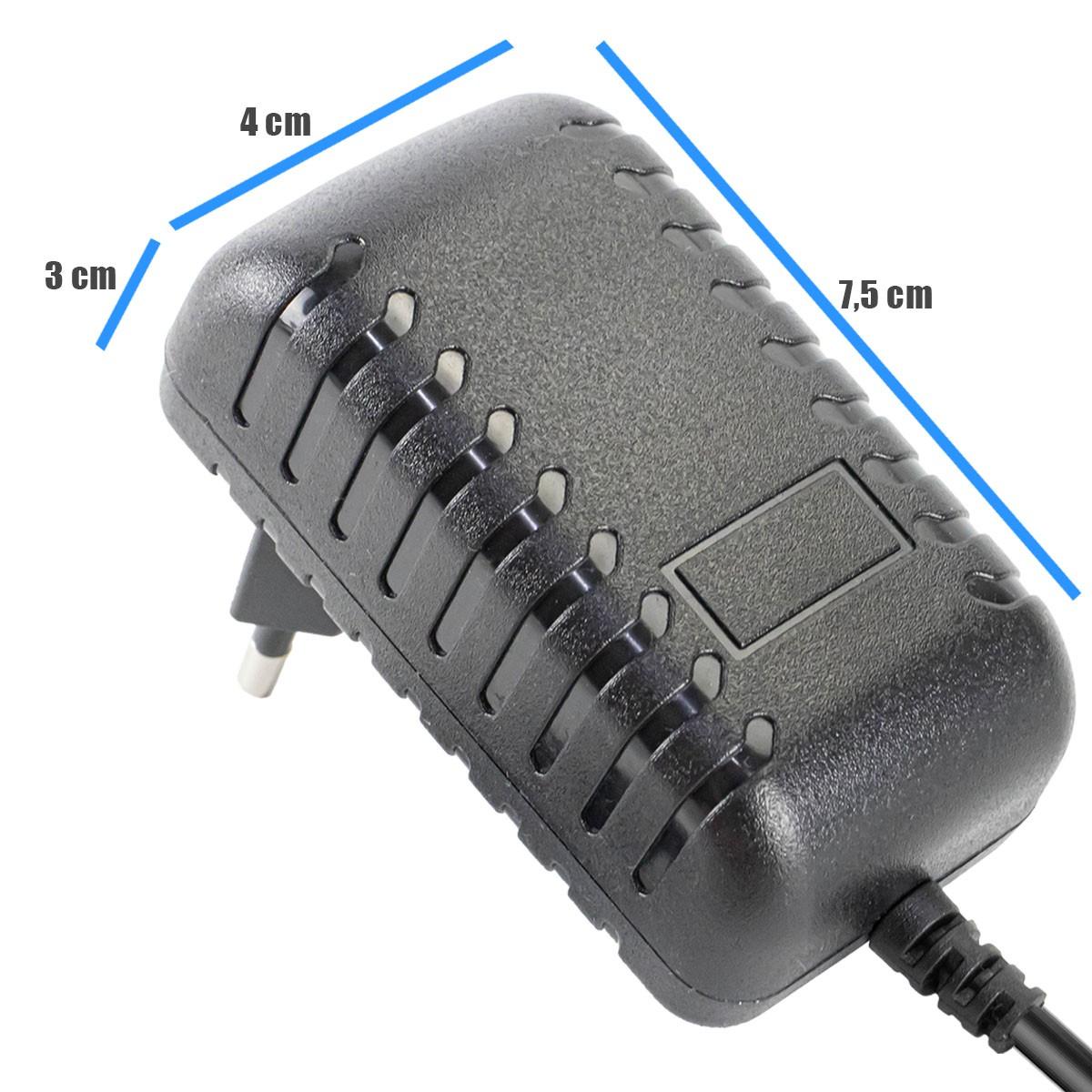 KIT 2x Fonte Chaveada 12v 3a Plug P4 5,5x2,5mm Bivolt LE-0174