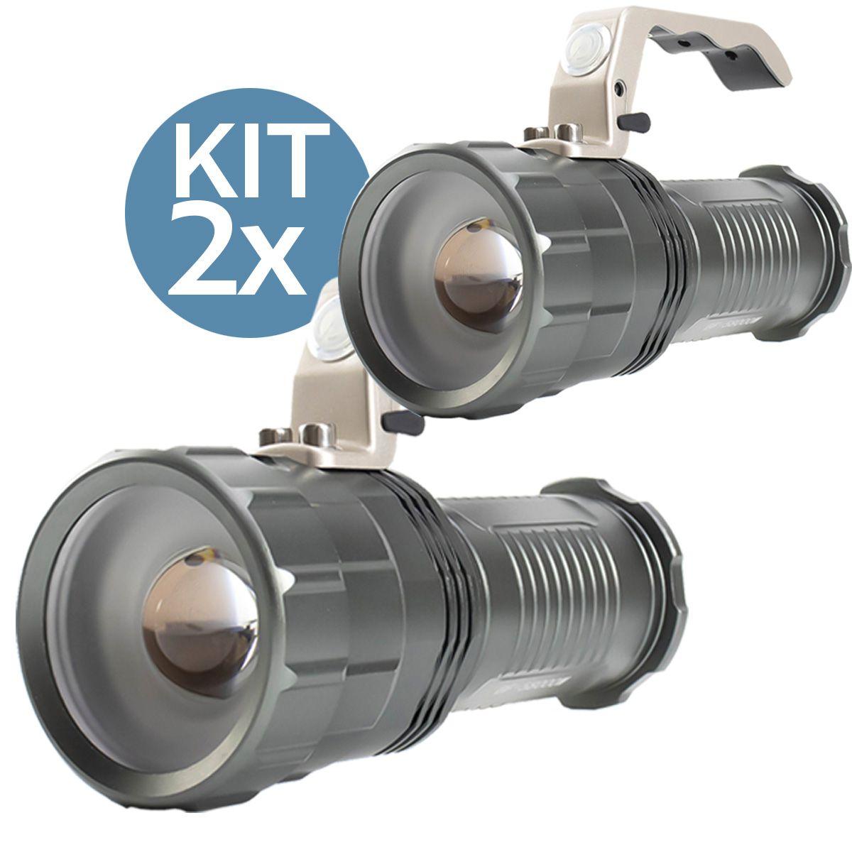 KIT 2x Lanterna Led Recarregável de 1200 Lumens B-Max BM-8806