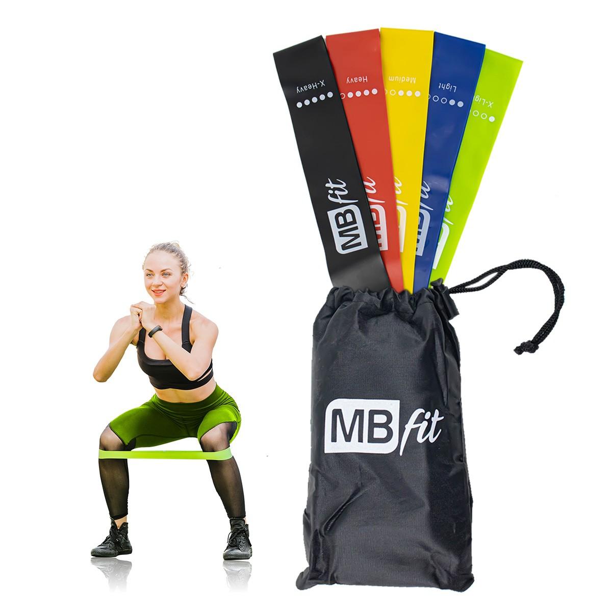 Kit 5 Faixas Elásticas para Treino Academia Thera Band MBfit LY87150