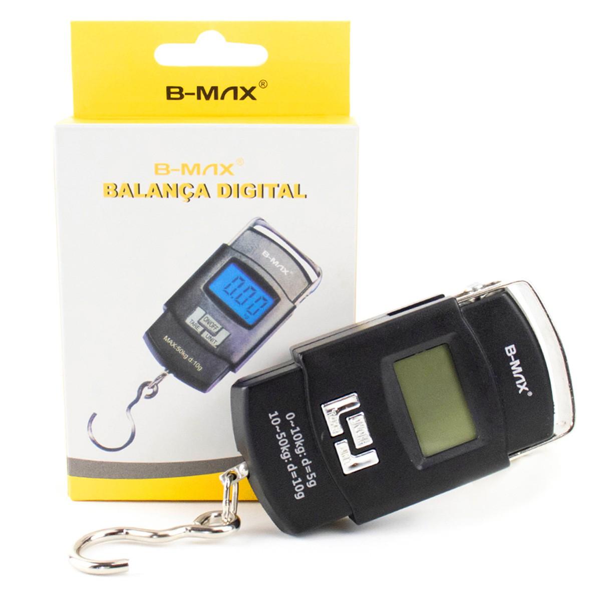 KIT 5x Balança Digital Portátil de Mão para até 50kg B-Max BM-A08