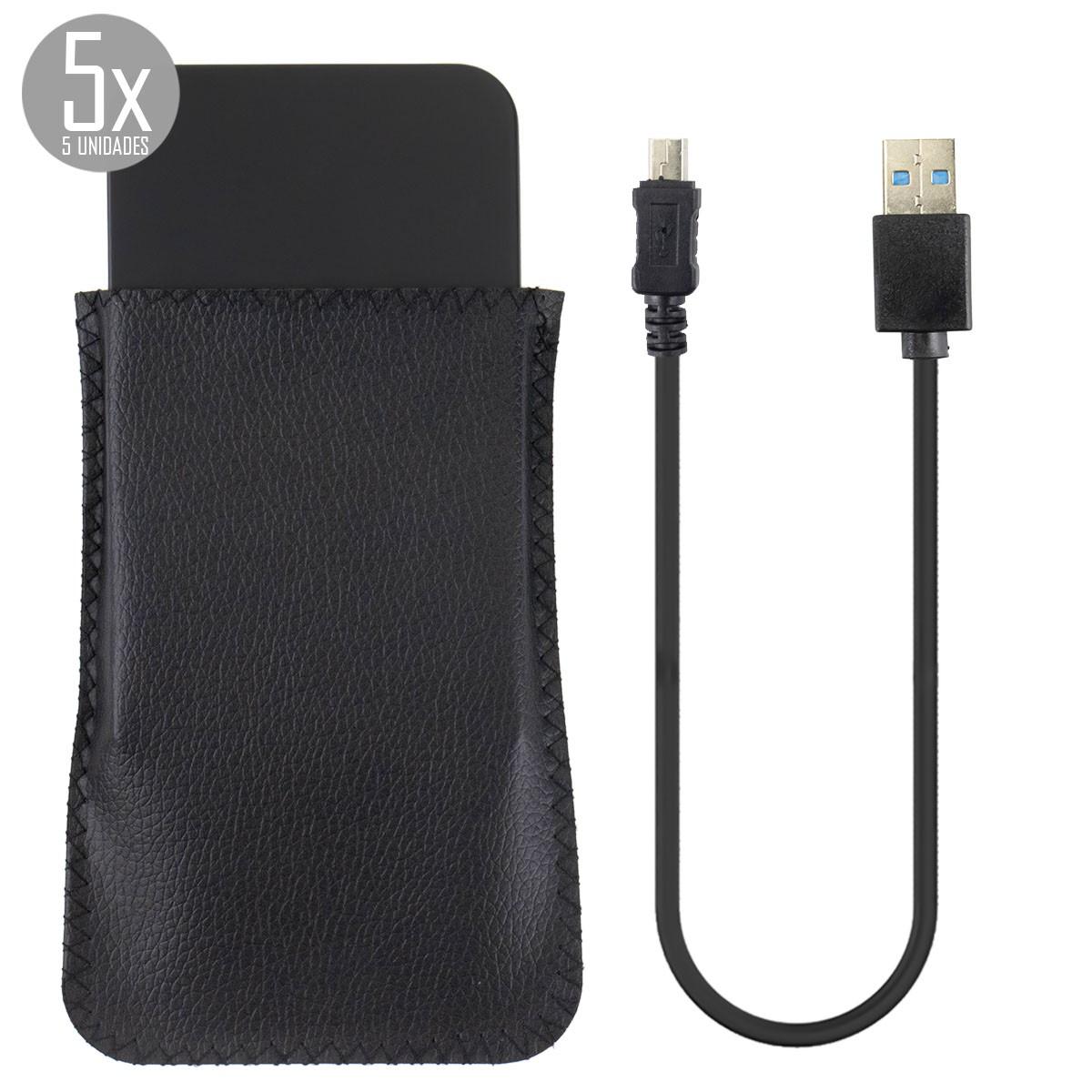 KIT 5x Case para HD de Notebook 2,5