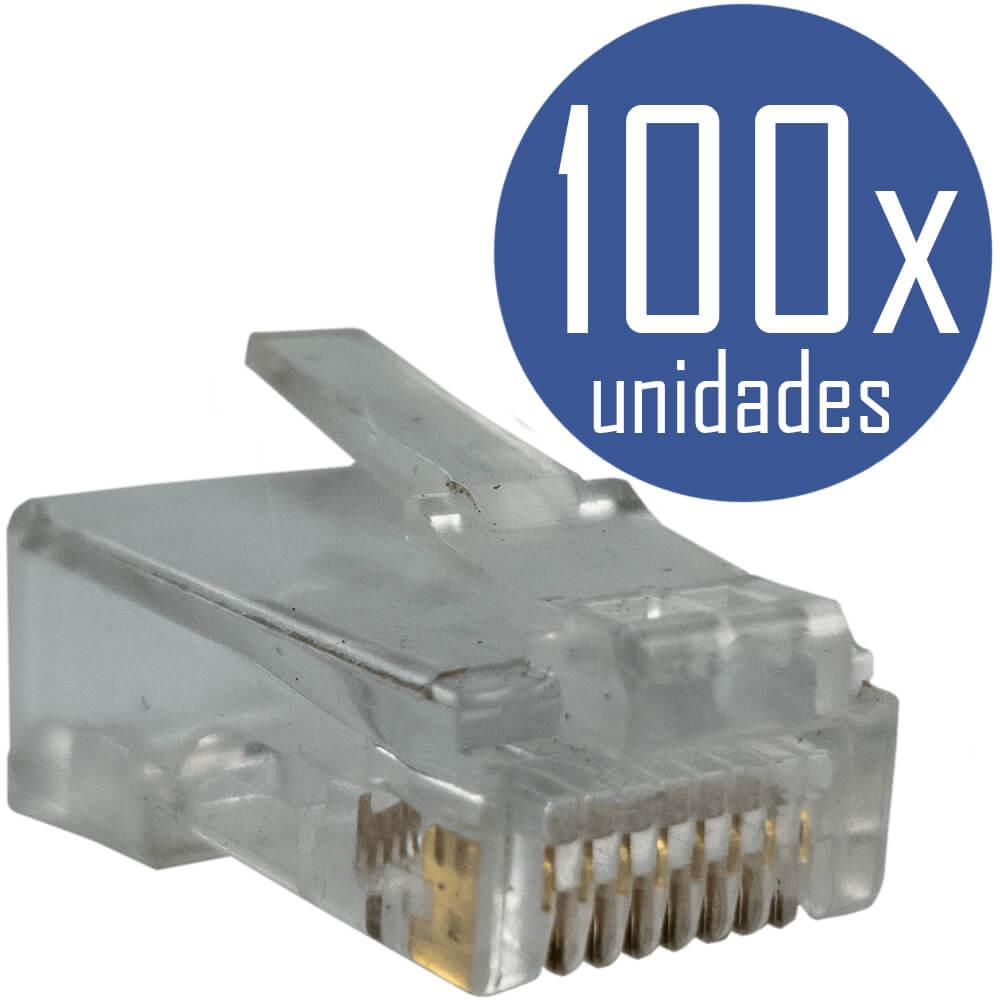 KIT Alicate de Crimpar 210c + Testador de Cabos RJ45 + 100x Conectores RJ45