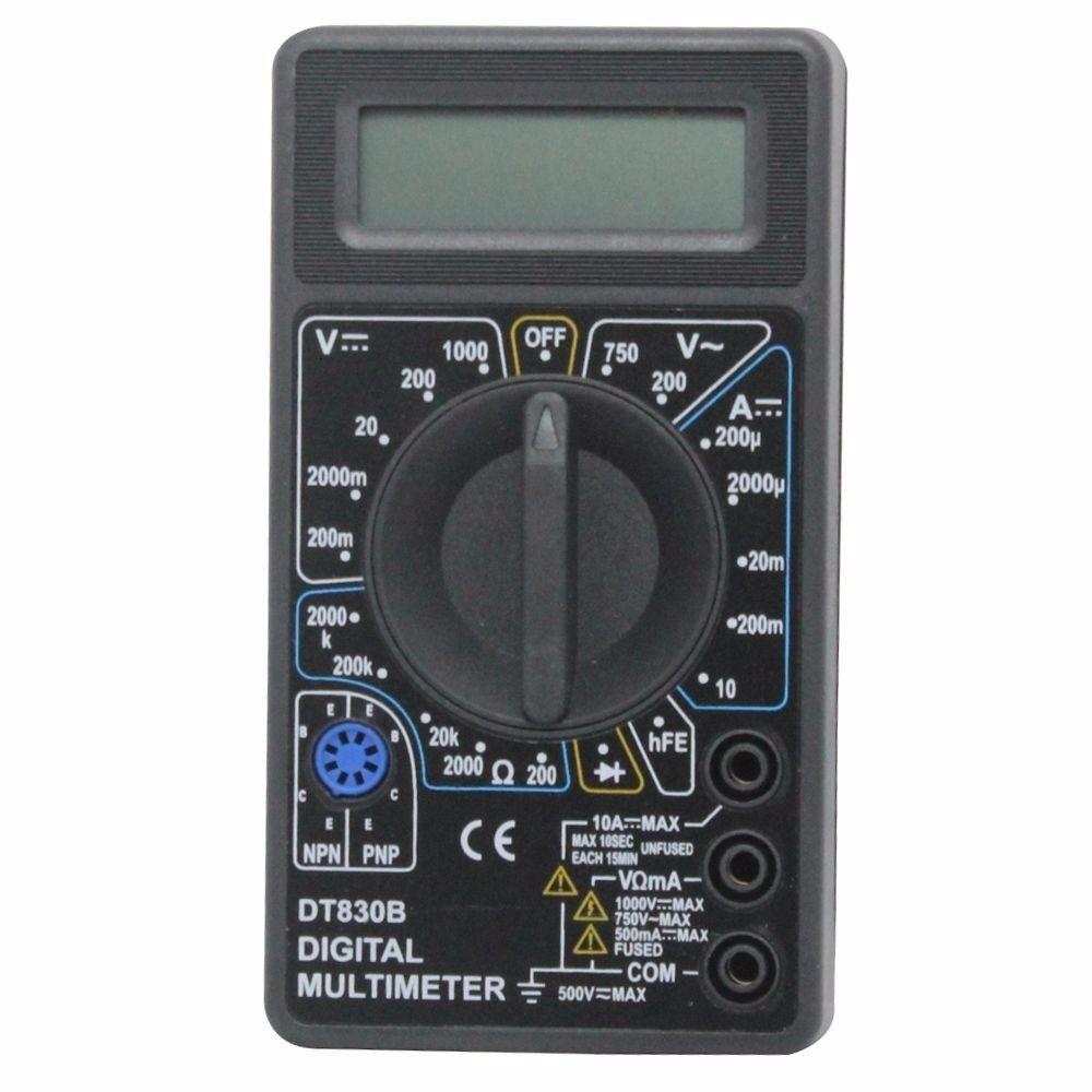 KIT Alicate de Crimpar 210c + Testador de Cabos RJ45 + Alicate p/ Crimpar Coaxial + Alicate Decapador Cabo Coaxial + 50x Conectores RJ45 + Multímetro DT-830B