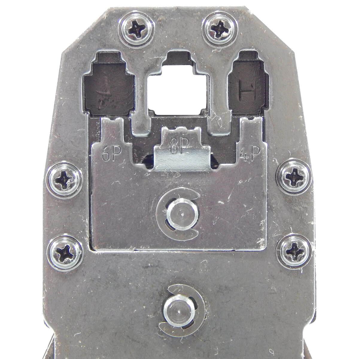 KIT Alicate p/ Crimpagem RJ45 e RJ11 + Alicate p/ Crimpar Coaxial + Alicate Decapador Cabo Coaxial + 100x Conectores RJ45+ Multímetro DT-830B