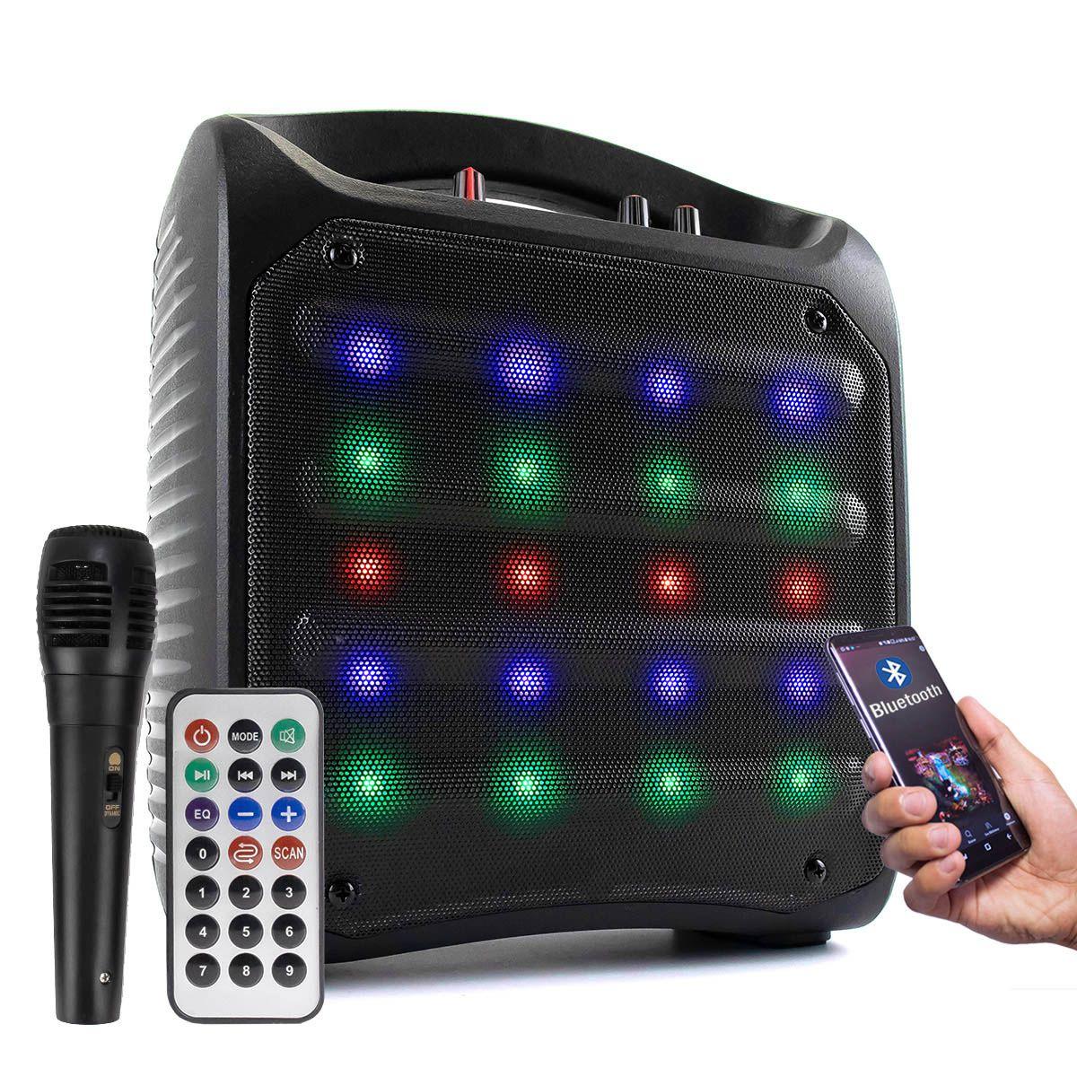 KIT Caixa de Som Bluetooth HI-FI 25W RMS Grasep D-Q9 + Microfone com Fio P10 MIC-PF10