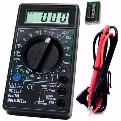 Kit com 10 Multímetros Digital DT-830 Preto