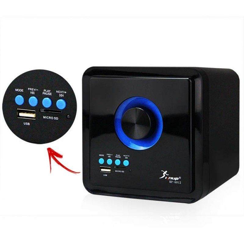 Kit com 2 Caixa de Som com Subwoofer 2.1 16 Watts Rms Usb/SD/Bluetooth Knup KP-6012
