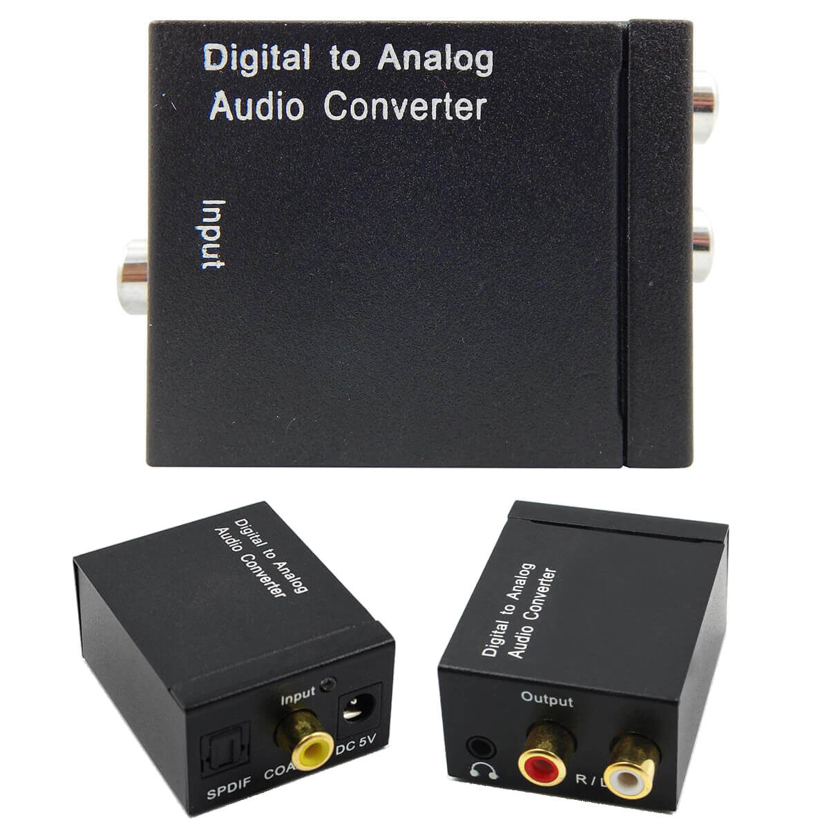 KIT Conversor Áudio Digital para RCA e P2 XT-5529 + Cabo Óptico Toslink 1,5 mts + Cabo Áudio P2 x P2 + Cabo DC 5V