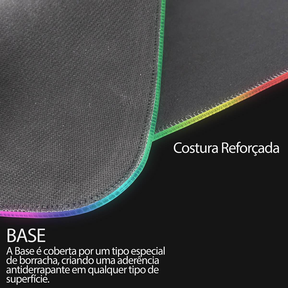 KIT Gamer Teclado + Mouse + Mouse Pad com LED Gamer BM-T06 + GM-601 + MP-LED3080