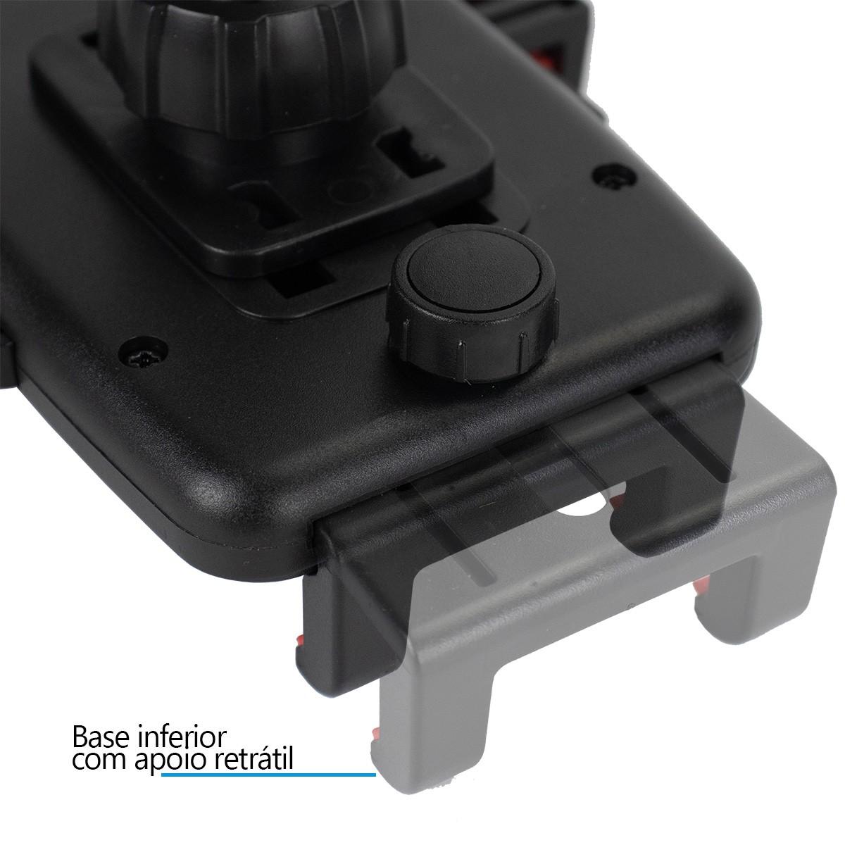 KIT Suporte Universal com Haste Exbom SP-T24 + Carregador Veicular Turbo 36W B-Max