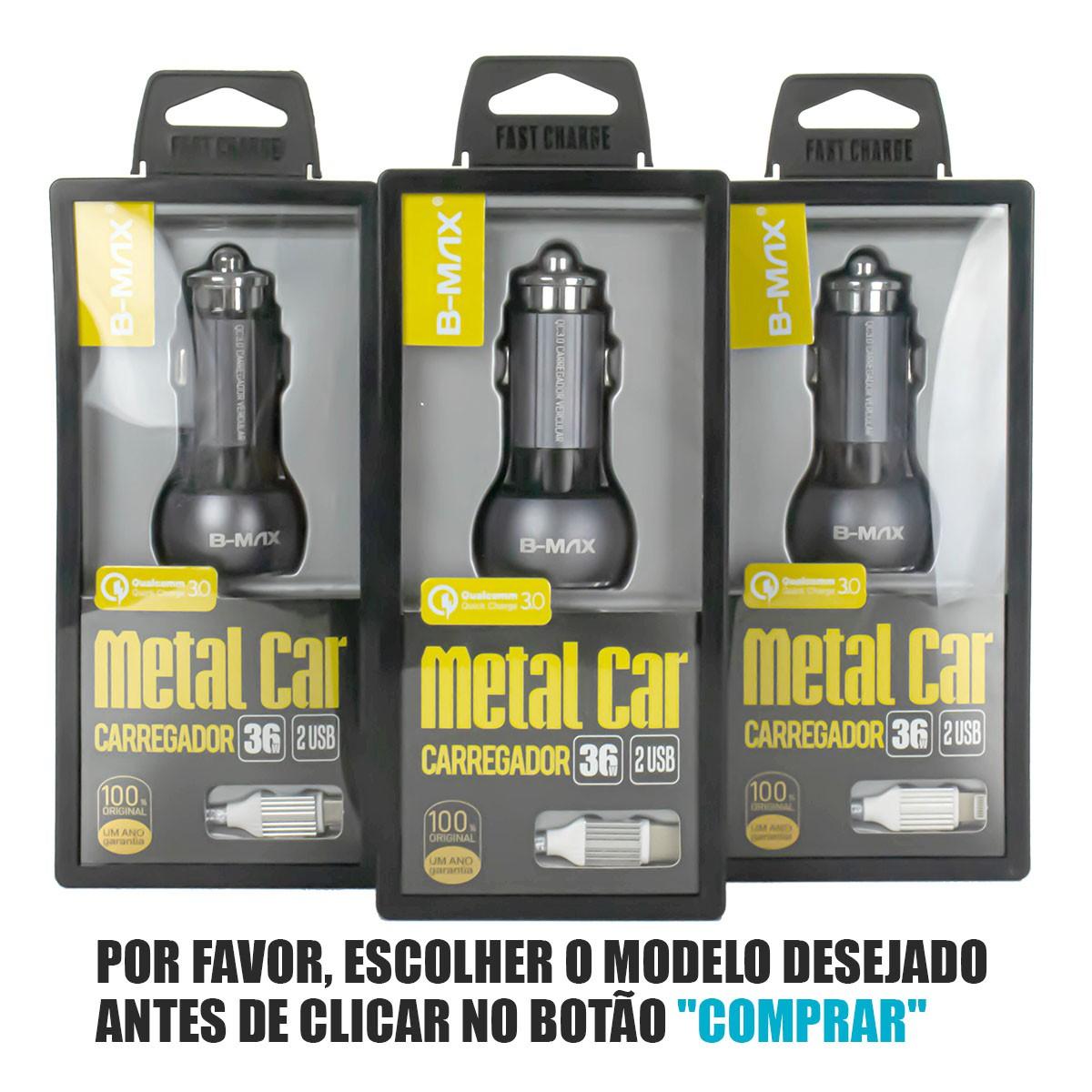 KIT Suporte Universal com Haste Flexível Exbom SP-T20 + Carregador Veicular Turbo 36W B-Max