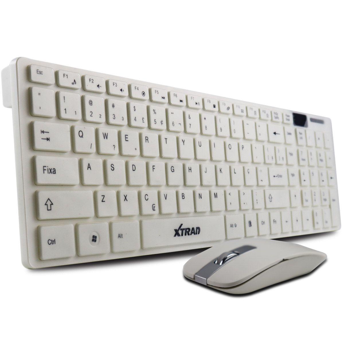 Kit Teclado e Mouse Sem Fio Xtrad HK8200