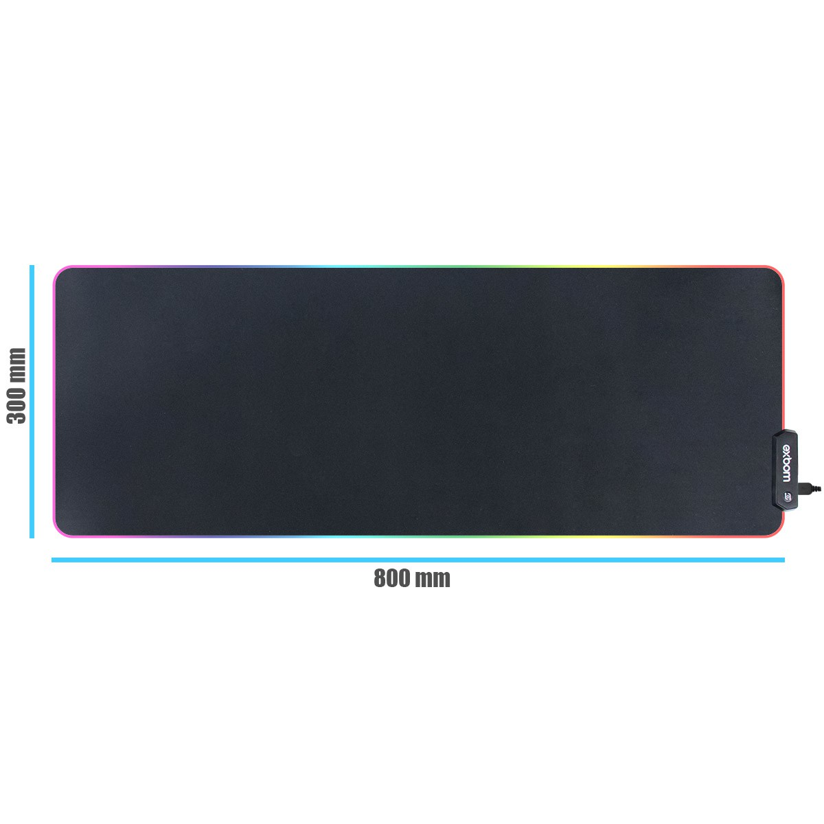 KIT Teclado Gamer Semi Mecânico com LED BM-T06 + Mouse Pad Gamer com LED Extra Grande 300x800x4mm