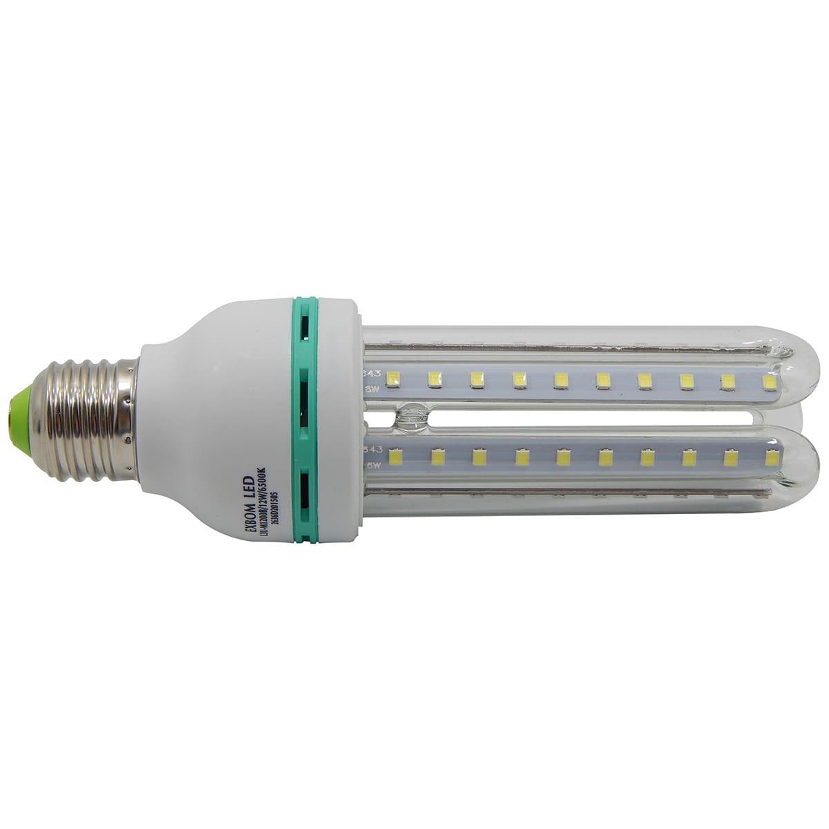 Lampada LED 3U/12W/E27/6500K Exbom L3U-M1200B