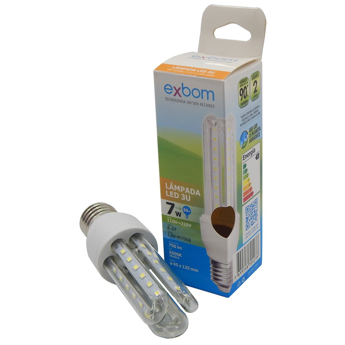 Lampada led 3u 7w e27 6500k exbom l3u m700b apolum for Lampade e27 a led
