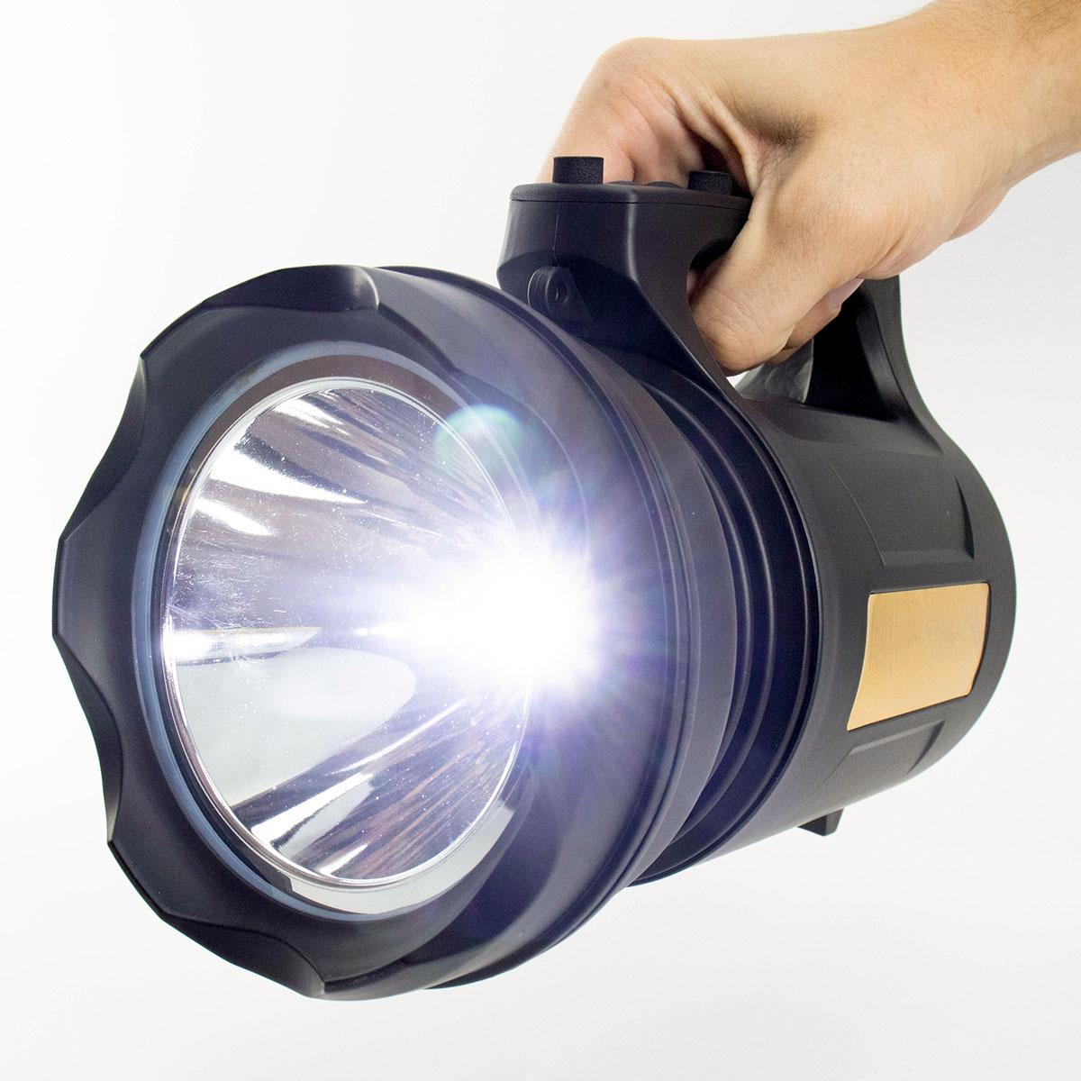 Lanterna Led Holofote Recarregável TD-6000A-30W-T6
