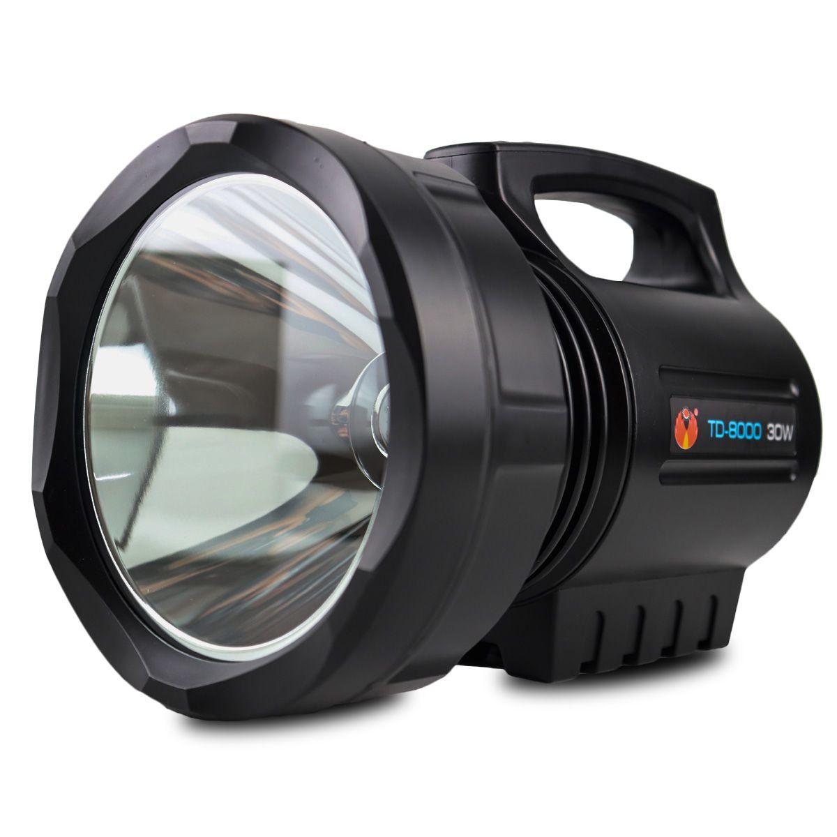 Lanterna Led Holofote Recarregável TD-8000