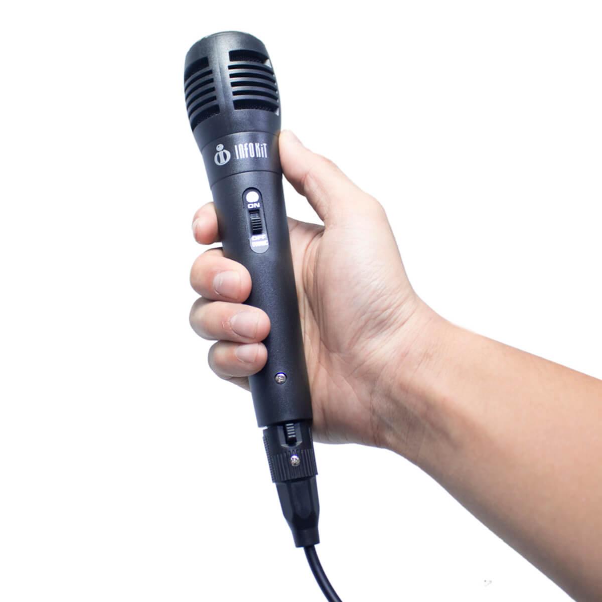 Microfone com Fio P10 Infokit MIC-PF10
