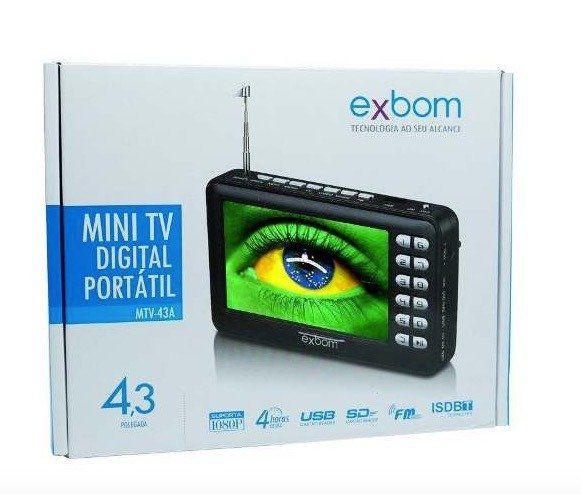 "Mini TV Digital Portátil de 4,3"" Exbom MTV-43A"