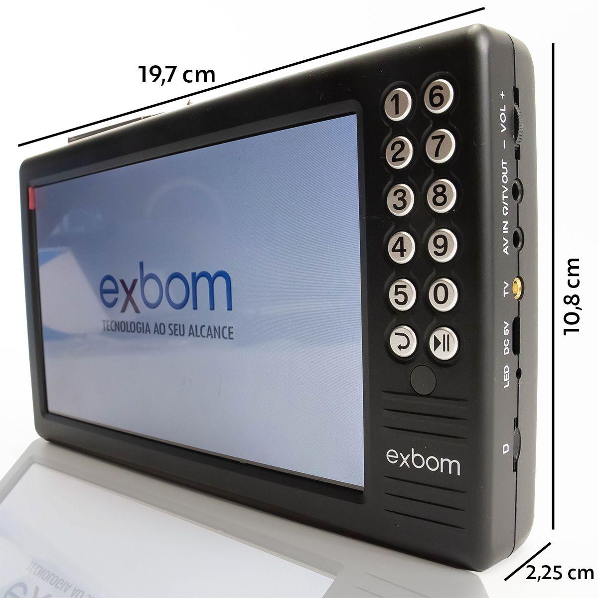"Mini TV Digital Portátil de 7"" Exbom MTV-70A"