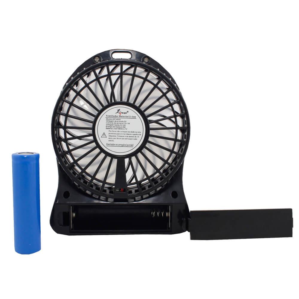 Mini Ventilador com Bateria Interna e Cabo USB Knup KP-9006