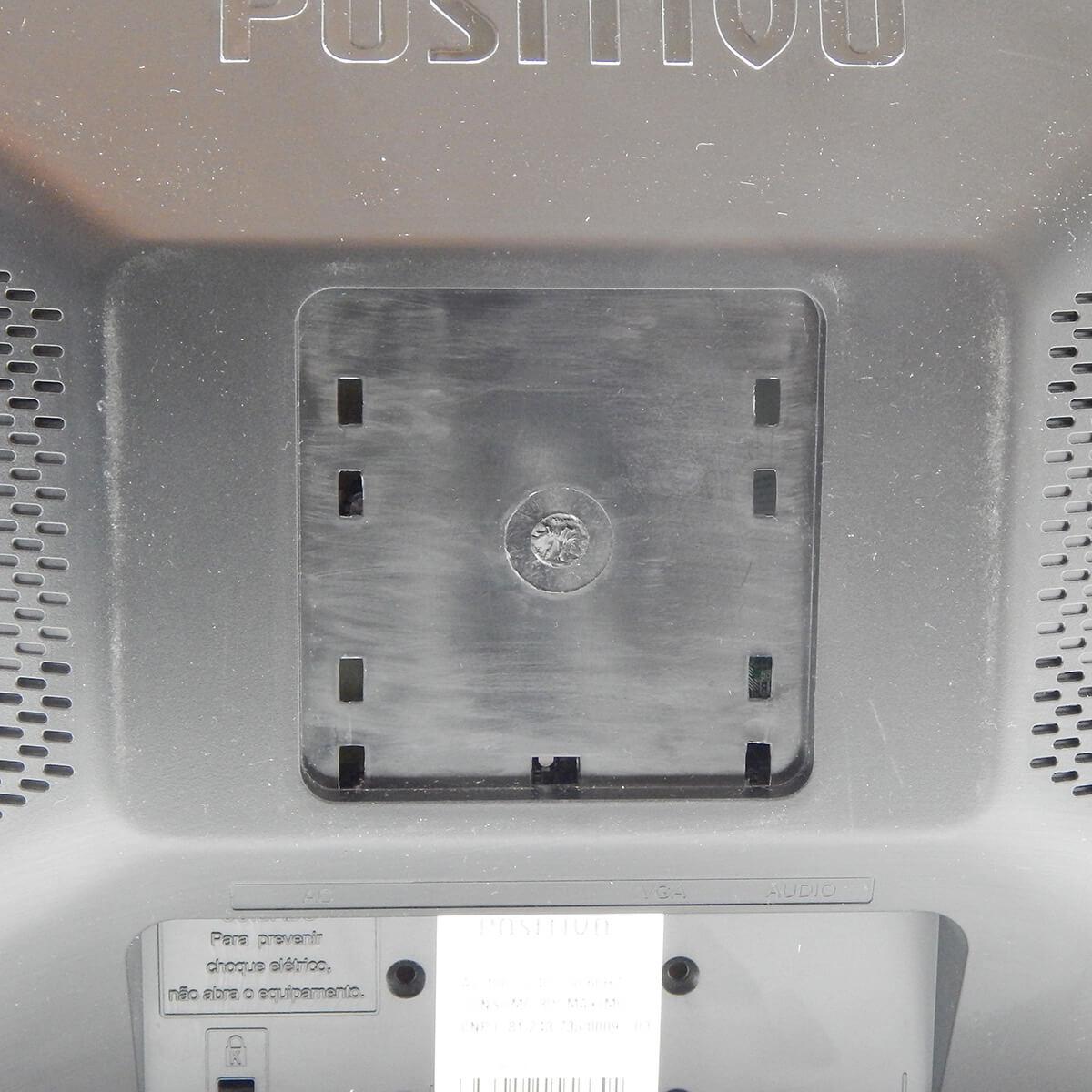 """Monitor Led 15,6"""" Positivo c/ Áudio Integrado USADO s/ Embalagem c/ Pequenos Riscos"""