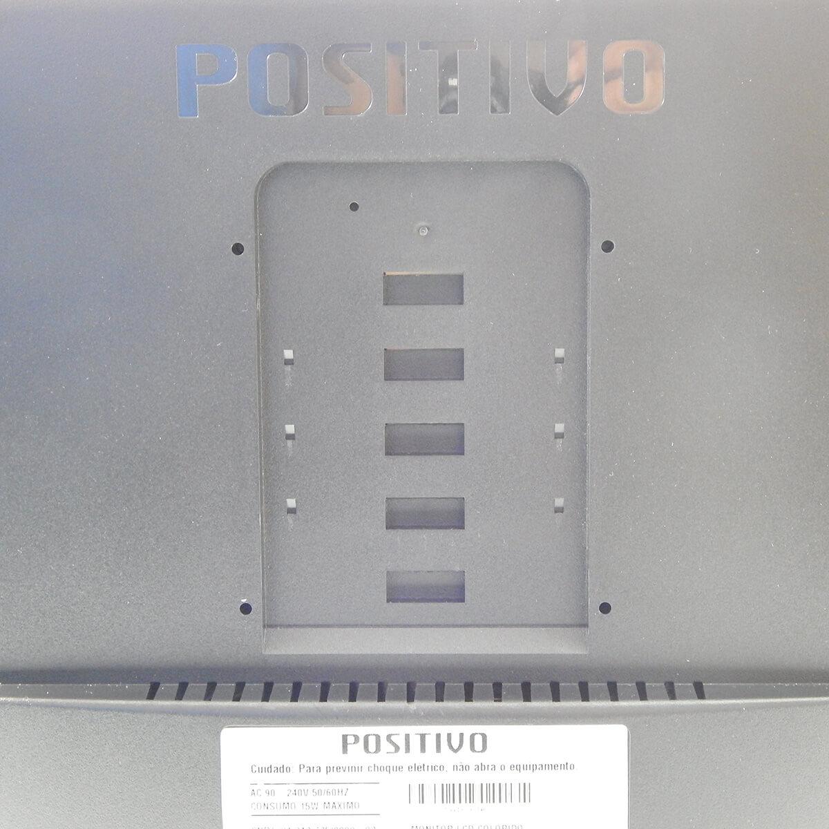 """Monitor Led 18,5"""" Positivo c/ Áudio Integrado NOVO s/ Embalagem c/ Peq. Detalhes"""