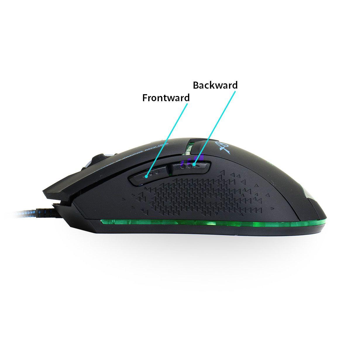 Mouse Gamer Usb X8 com Cabo Reforçado