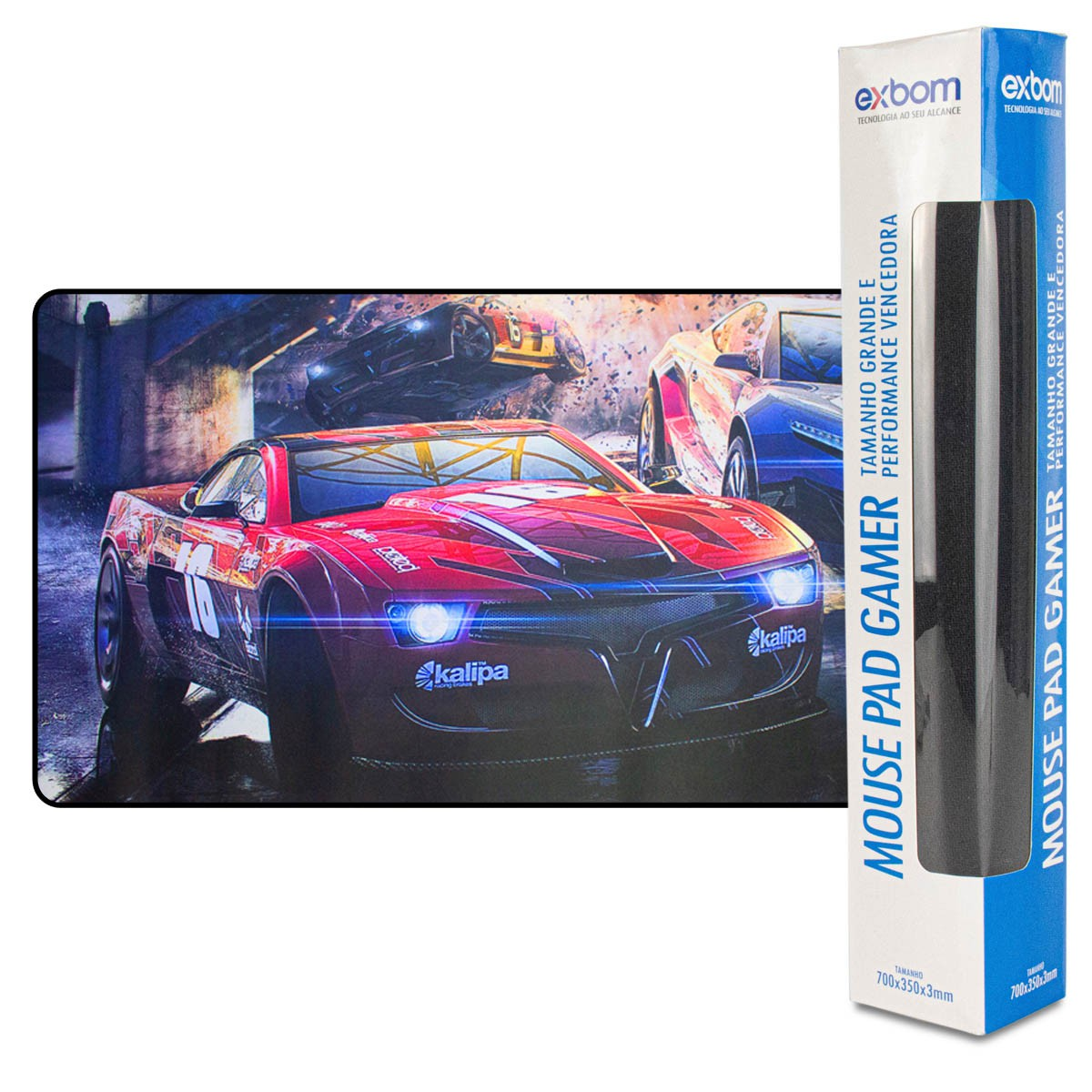 Mouse Pad Gamer Exbom MP-9040A Extra Grande 900x400x3mm