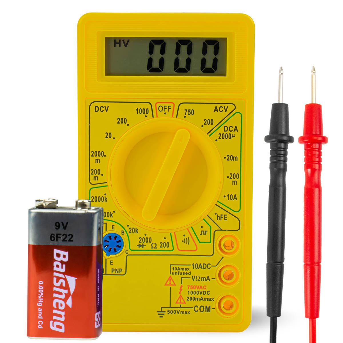 Multímetro Digital LCD com Aviso Sonoro XT-573 / LE-945