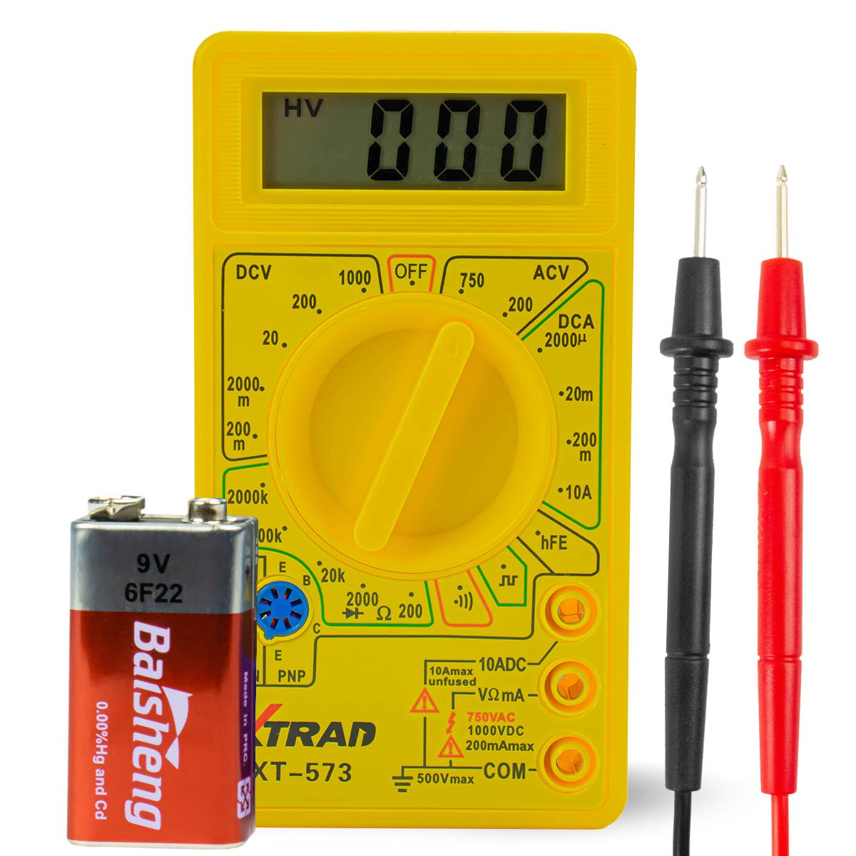 Multímetro Digital LCD com Aviso Sonoro Xtrad XT-573