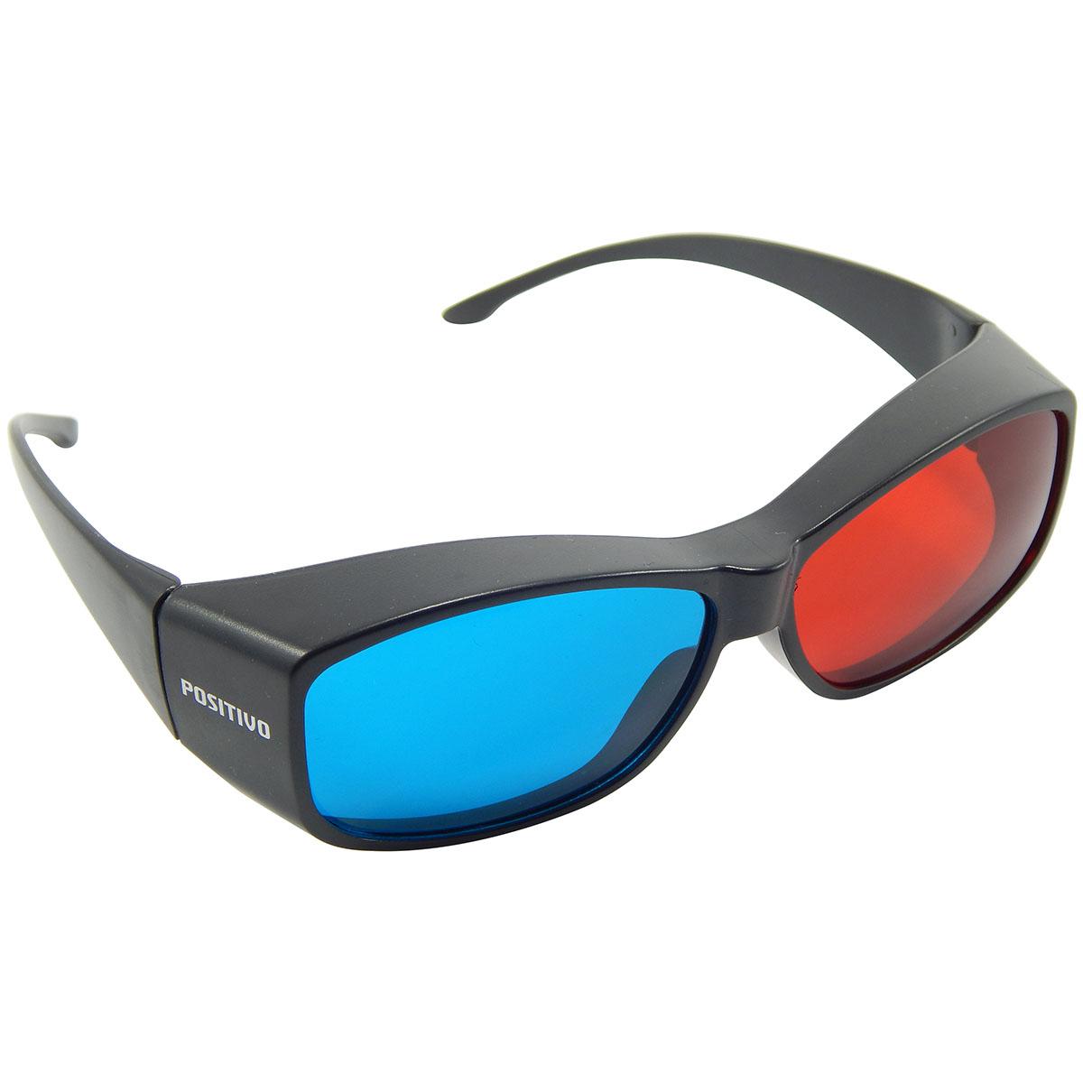 Óculos 3D Positivo Passivo Azul e Vermelho