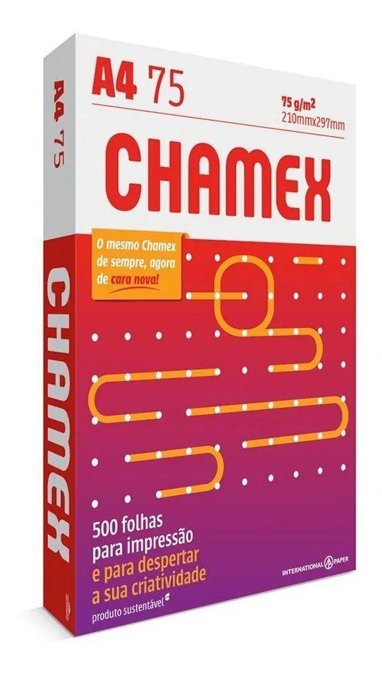 Pacote 500 Folhas de Papel Sulfite A4 Chamex 210 x 297 mm 75g