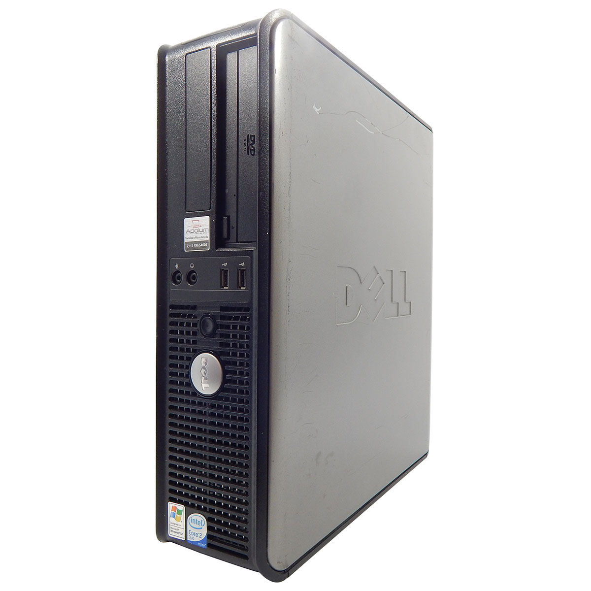 PC Dell Slim 745 C2D E4300 1.8Ghz - 2GB DDR2 - 80GB - DVD-RW - Seminovo - N