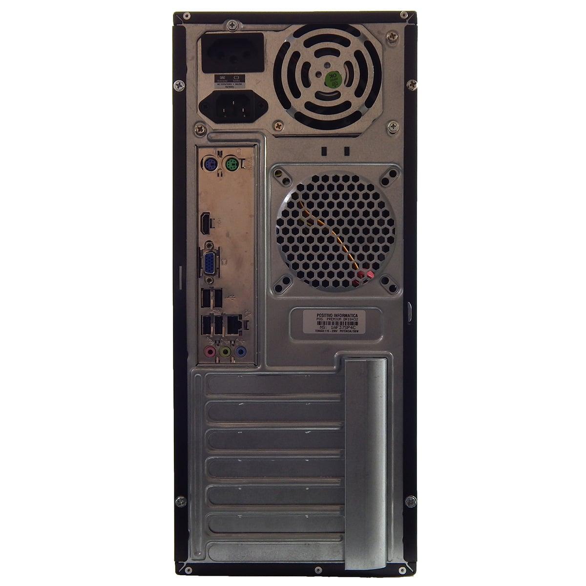PC POSITIVO PREMIUM DR8215 I3-2120 4Gb 1Tb Gravador DVD - Reembalado