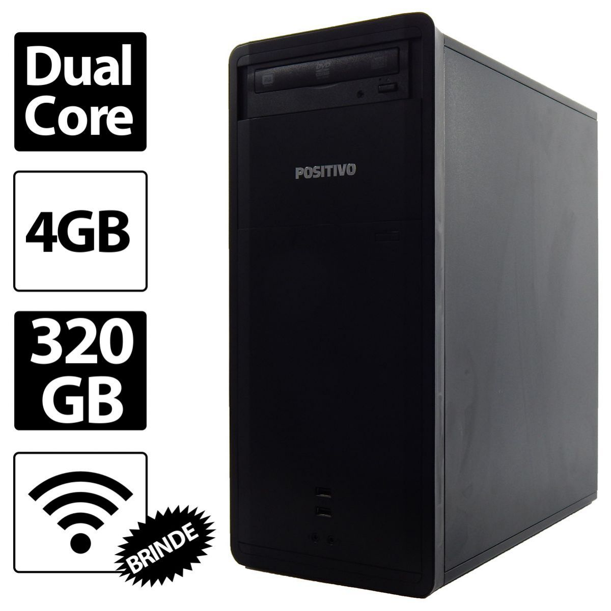 PC Positivo Premium Intel Celeron Dual 847 4GB 320GB - Novo - Reembalado