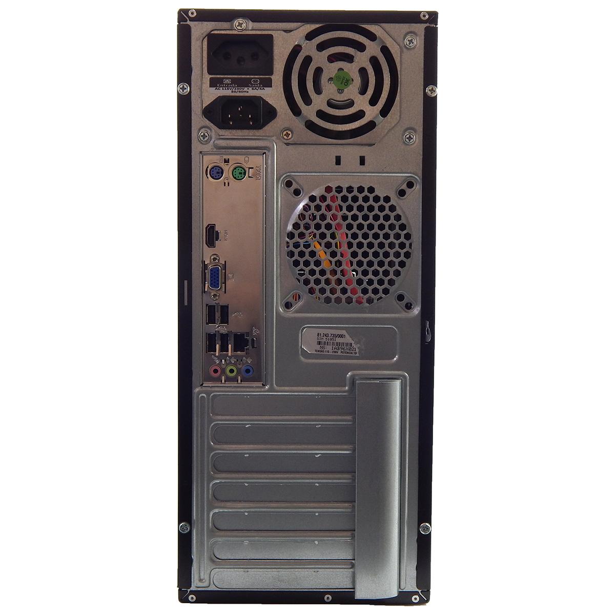 PC POSITIVO SIM 5105i Celeron G620 4Gb 500Gb DVD - Reembalado