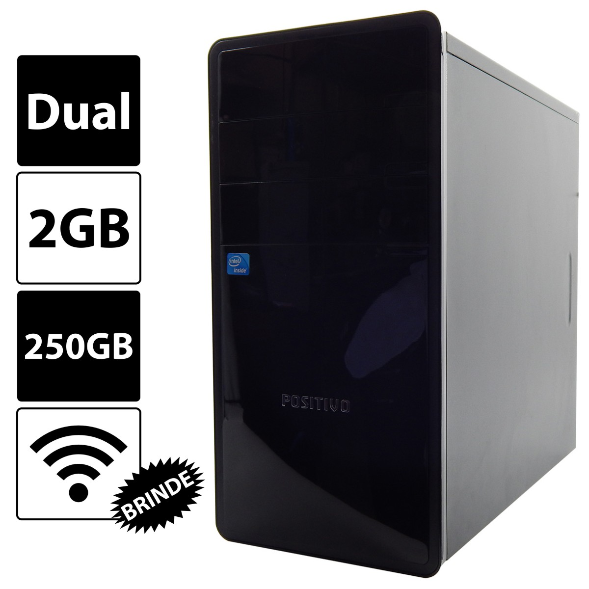 PC POSITIVO UNIQUE K2080 Celeron 847 2Gb 250Gb DVD - Reembalado