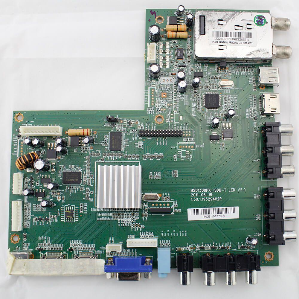 Placa de Sinal TV Philco PH32M Pn MSD1309PX_ISDB_T Led V2.0 - Nova