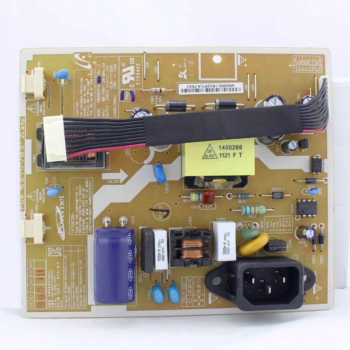 Placa Fonte de Monitor Samsung B1630 B1930 Pn PWI1802PC - Nova