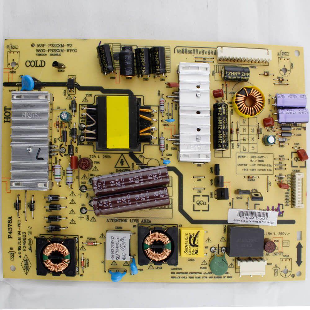 Placa Fonte TV Philco Pn 168P-P32EXM-W3 - Nova