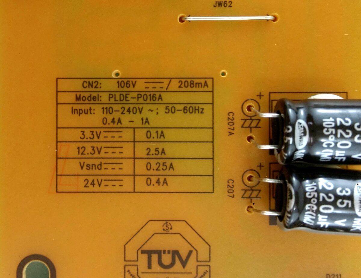 Placa Fonte TV Philips PLDE-P016A - Nova