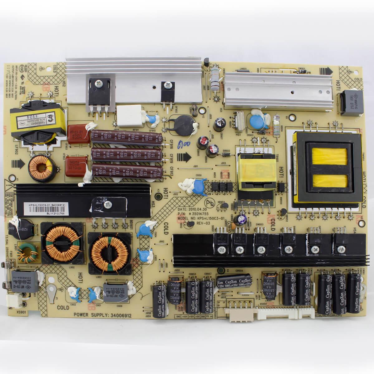Placa Fonte TV Toshiba Pn KPS+L150C3-01 - Nova