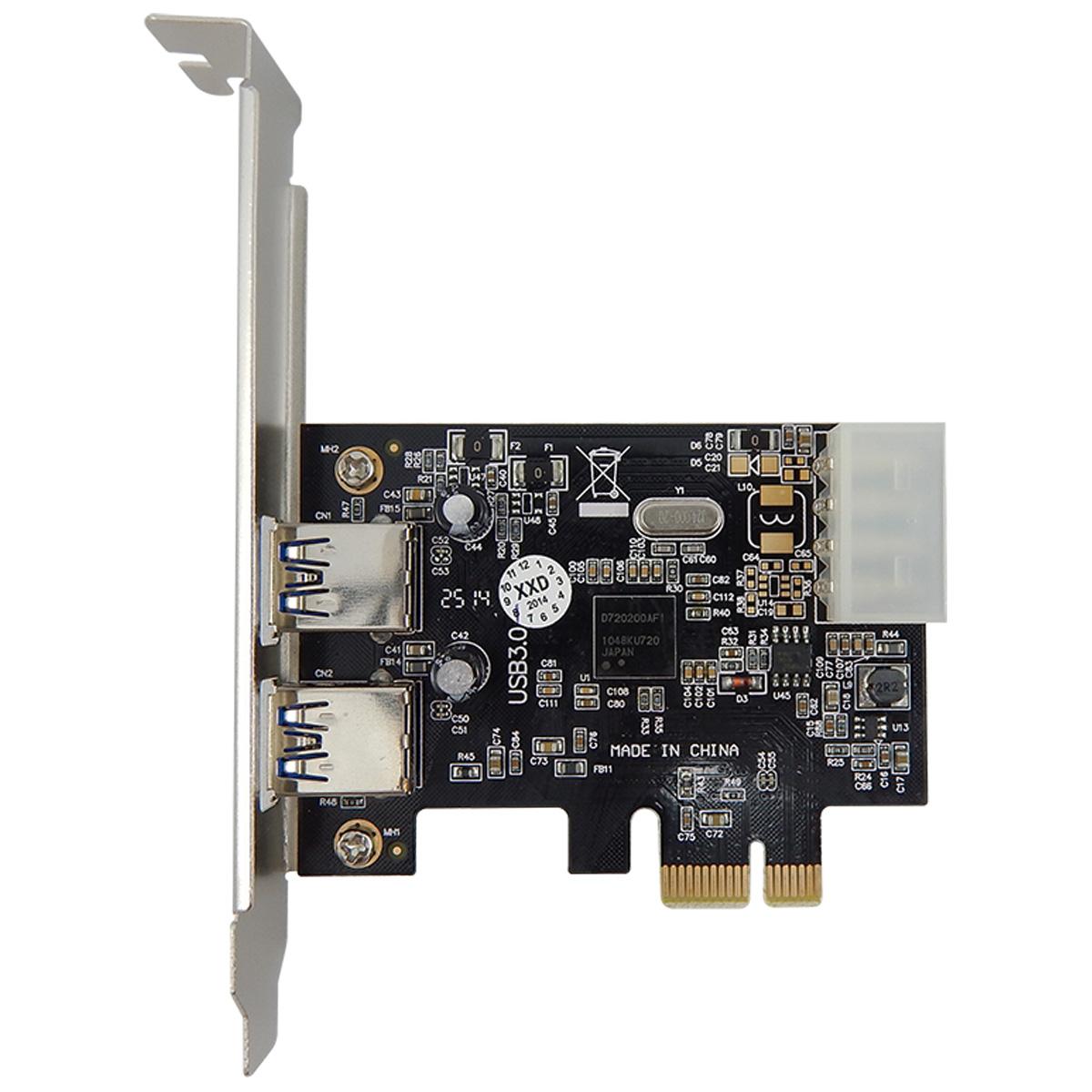 Placa Pci-e Usb 3.0 5gbps Com 2 Portas Pci Express