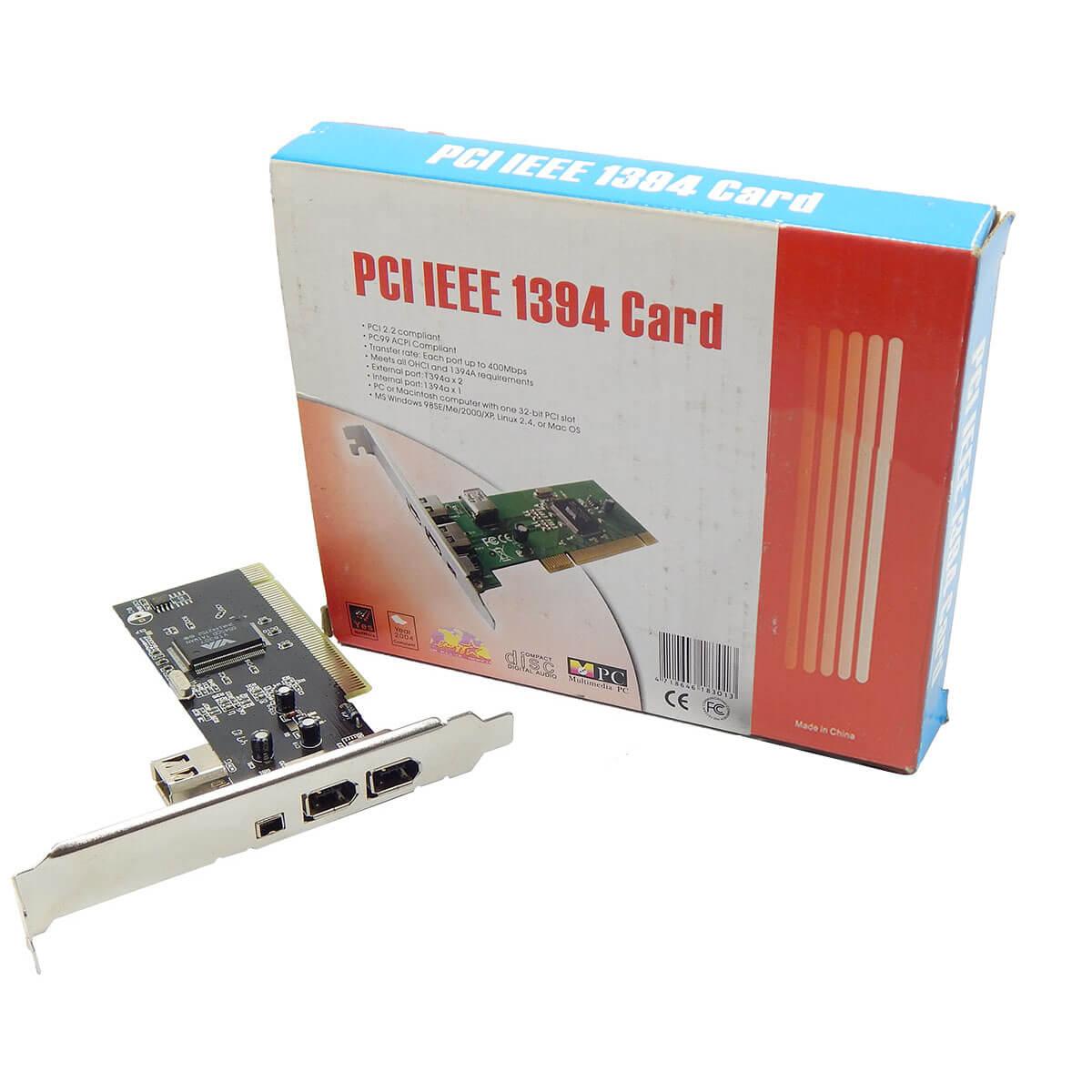 Placa PCI IEEE 1394 Via
